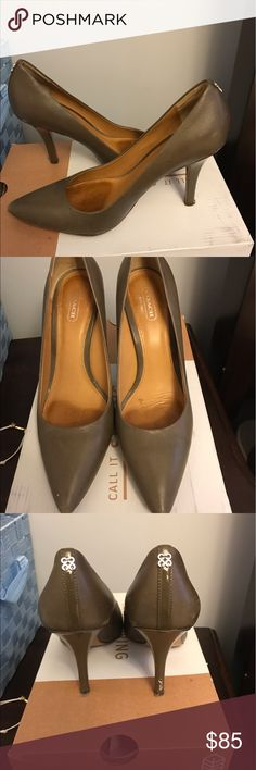 COACH pumps 3.5 inch high Coach classic pump... minimally worn... no longer fit after having a baby.. they need a good home Coach Shoes Heels