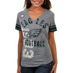 NFL Philadelphia Eagles Ladies Big Play Tri-Blend Premium T-Shirt - Ash ( ca37ea60c