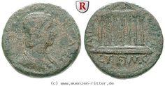 RITTER Kilikien, Anazarbos, Julia Mamaea, Triassarion, Tempel #coins