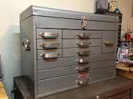 Images of Vintage Craftsman Toolbox Antique Tools, Old Tools, Vintage Tools, Vintage Box, Tool Organization, Tool Storage, Locker Storage, Garage Storage, Carpentry Tools