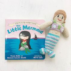 Pebble Mermaid Rattle Spotted!  How is there no mermaid emoji?!!  #itsybitsybums #mermaid #rattle #instore #online #baby #toddler #shopsmall #shoplocal #mermaidbaby #pebblespotted #pebblechild #fairtrade #crochet #ecotoys ( # @itsybitsybums via @latermedia )