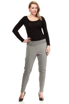 Szare spodnie plus size Capri Pants, Trousers, Sweatpants, Clothes For Women, Grey, Womens Fashion, Model, Shopping, Collection