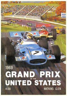 1969 US Grand Prix poster #F1 #Formula1 #FormulaOne