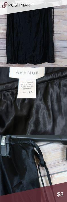 Avenue Black Skirt Plus Size 22/24 Like New 50% Rayon 50% acetate Avenue Skirts