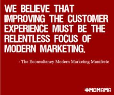We believe : Will you sign the Modern Marketing Manifesto? http://ecly.co/MoMaMa  #momama #social  #UX #CX #design #marketing