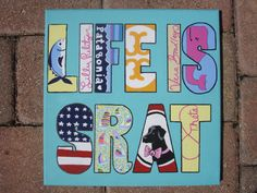 Life Is Srat Canvas..im so making this