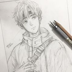 Manga Character Drawing Another nameless Boy Drawing, Manga Drawing, Manga Art, Anime Art, Drawing Ideas, Amazing Drawings, Realistic Drawings, Cool Drawings, Anime Drawings Sketches