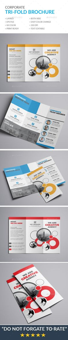 Trifold Brochure - #Brochures Print #Templates Download here: https://graphicriver.net/item/trifold-brochure/20125651?ref=alena994