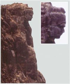 "The Lady of Mali (Guinea), is a masterpiece of nature, at 1500 m altitude on Mount Lour. It is the image of a remarkable beautiful woman's figure carved into the rock by wind erosion during ages, and visible at great distance in its full shape. The ""Lady of Mali"" is located on a high rock wall over a abyss. The head is about 25 meters high, while the entire sculpture is about 150 meters high."