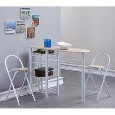 TABLE A MANGER COMPLET FIRST Ensemble repas coloris chêne 3 pièces 1 tabl