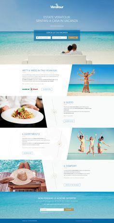 Daniele de santis holiday resorts campaign landing page real pixels Design Sites, Web Design Websites, Ad Design, Website Design Layout, Web Layout, Layout Design, Template Web, Website Template, Templates