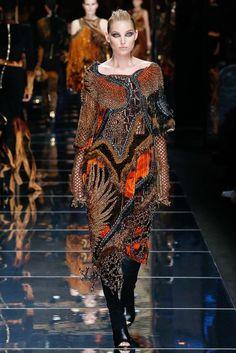 Balmain Fall 2017 Ready-to-Wear Fashion Show - Elsa Hosk look 6 Mass Mess