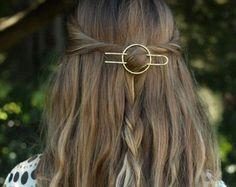 La Barrette Francaise Handmade french hair clip//barrette oval