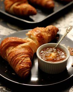 Lemon zest marmalade perfect with croissant