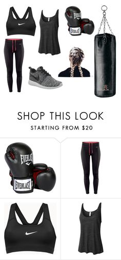 """""""Boxing"""" by tvdlover13 ❤ liked on Polyvore featuring Everlast, H&M, NIKE, LE3NO, women's clothing, women, female, woman, misses and juniors"""