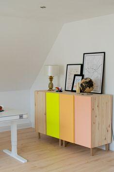 Ivar Kommode von Ikea im DIY Upcycled Furniture Diy Ikea Ivar Kommode von Frosta Ikea, Ikea Hejne, Ikea Ivar Hack, Hack Commode Ikea, Ikea Ivar Cabinet, Ikea Dresser Hack, Wooden Cupboard, Wooden Cabinets, Ikea Furniture