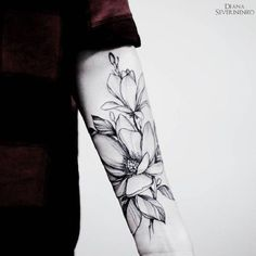 Magnolia Tattoo Design for Men. Magnolia flower tattoos are mostly worn by women, however, as they are highly in trend, they can also be embellished on men. Here's the look.