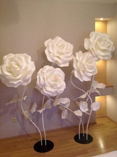 Large Flowers-Giant Paper Flower-Big Flowers-Wedding Decoration-Stand with Flowers-Flowers wiht Stem-Standing Flowers-Stemmed Flowers-Izolon - - Paper Flower Decor, Large Paper Flowers, Paper Flowers Wedding, Giant Paper Flowers, Large Flowers, Flower Crafts, Fabric Flowers, Tropical Flowers, Bridal Shower Centerpieces