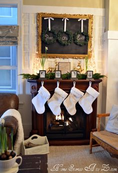 Love these stockings.  I have had no luck finding white stockings beyond those that cost $$$ through Pottery Barn.