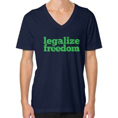 Legalize Freedom V-Neck (on man)