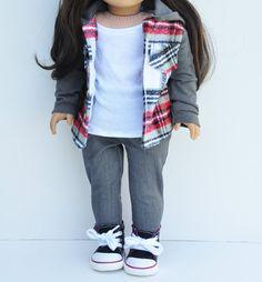 Ameriacan Made Doll Clothes  Flannel by LoriLizGirlsandDolls