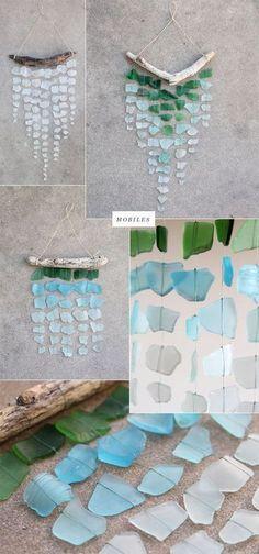 diy ocean craft   sea glass mobiles / Craft on imgfave   DIY