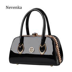 24274a839b Nevenka Fashion Women Evening Bag Famous Brand Designer Bags Patent Leather  Rhinestones Bag Socialite Crossbody Bags