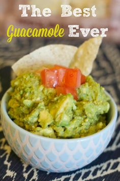 This summer guacamole only has 3 ingredients and is seriously The Best Guacamole Ever! It is flavorful, easy and always a hit with a crowd.