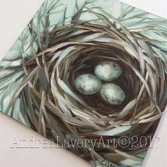 "Happy Mothers Day!  I spent several hours on a 12x12"" nest painting... of course, it's Mother's Day. This is not it.  I killed the one I worked on today. Lol. This 6x6"" is an old one that I love. I hope you enjoyed your day in your own little nest. ❤️#birds #birdsnest #birdart #brushstrokes #colorfulart #nature #birdnest #birdlover #birding #nests #birdsofinstagram #art #audubon #laveryart #etsy #dailypaintings #birdsofinstagram #impressionistic #handmade #interiordecor #originalart…"