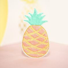 Pineapple Patch by mimosch mimosch patches are a fun and simple way to personalise your t-shirts, jackets, hats, jeans, canvas bags, & canvas sneakers and much more! All patches are designed by myself and handcrafted with great care. They feature an iron-on backing & ship with instructions.