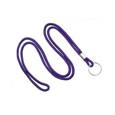 "Avoid the damage that pins and clips can cause valuable work clothes with a comfortable alternative that's great for prominent badge display. These purple round lanyards feature non-breakaway construction with a split ring attachment and crimp. These products are fast movers and fast shippers with a 1-3 business day travel time, so orders are subject to availability of stock. They're unimprinted and measure 1/8"" across with a 36"" pre-assembly cut length. From trade shows to..."