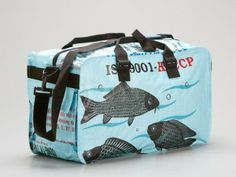 Recycled Rice Bags Into Totes, Duffles, Makeup Cases and more by Torrain