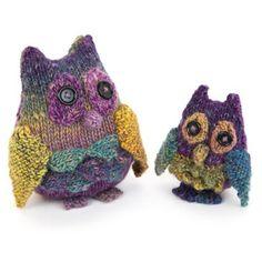 Yarn Owl & Owlet Knitting pattern by Sue Stratford | Knitting Patterns | LoveKnitting