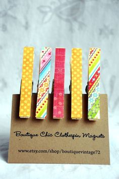 clothespin magnets as shower favors? i use mine all the time
