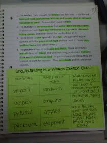 Context clues lesson plan. I love that the students can write what strategy they used to help them learn the vocab word.