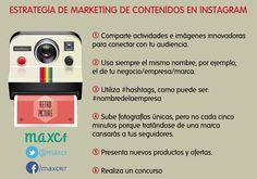 Marketing de contenidos en Instagram. Infografía en español. #CommunityManager