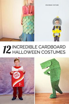 Awesome and creative Halloween cardboard costumes for the kids.