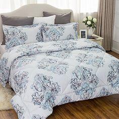 Damask Bedding Comforter Sets Full/Queen size 88x88 Grey Bedroom Bedspread All season Down Alternative Microfiber Elegant Luxury (1 Comforter+2 Pillow shams) by Bedsure #Damask #Bedding #Comforter #Sets #Full/Queen #size #Grey #Bedroom #Bedspread #season #Down #Alternative #Microfiber #Elegant #Luxury #Comforter+ #Pillow #shams) #Bedsure