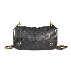 JÉRÔME DREYFUSS Bobi Bag In Python. #jérômedreyfuss #bags #shoulder bags #