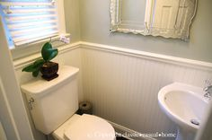 Tiny Powder Room-Before and After Tiny Powder Room-Corner Pedestal Sink Tiny Half Bath, Small Half Baths, Corner Pedestal Sink, Corner Sink, Room Corner, Tiny Bathrooms, Small Bathroom, Bathroom Ideas, Bath Ideas