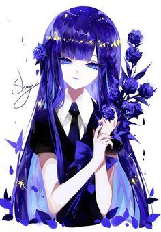 Lapis Lazuli (Houseki no Kuni) Image - Zerochan Anime Image Board Pretty Anime Girl, Beautiful Anime Girl, Kawaii Anime Girl, Anime Art Girl, Anime Guys, Manga Girl, Anime Girl Drawings, Anime Demon, Anime Outfits