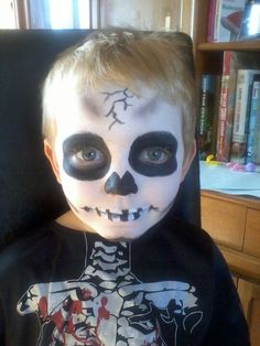 skeleton face paint - Skeleton Face Paint For Halloween