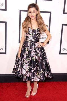 Ariana Grande in a full-skirt Dolce & Gabbana number