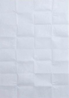 """Martin Creed (b. 1968) """"Work No. 384: A sheet of paper folded up and unfolded"""", 2004. Paper. #grid"""
