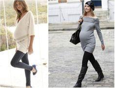 Mulheres grávidas usando lycra