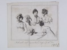 Museum of London | ENGRAVING Fashionable & Elegant Head Dresses for the Year Production Date: 1805 ID no: 2002.139/1548