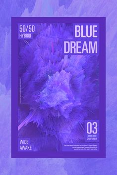 STRAIN Blue Dream Marijuana poster on Behance