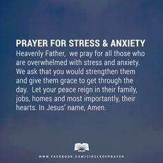 prayer for stress & anxiety