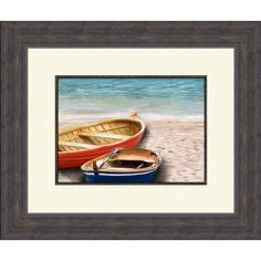 Found it at Wayfair - Boats A Framed Painting Print