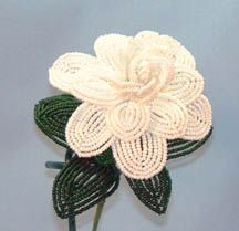 Beaded Gardenia Pattern by Dalene Kelly at Bead-Patterns.com